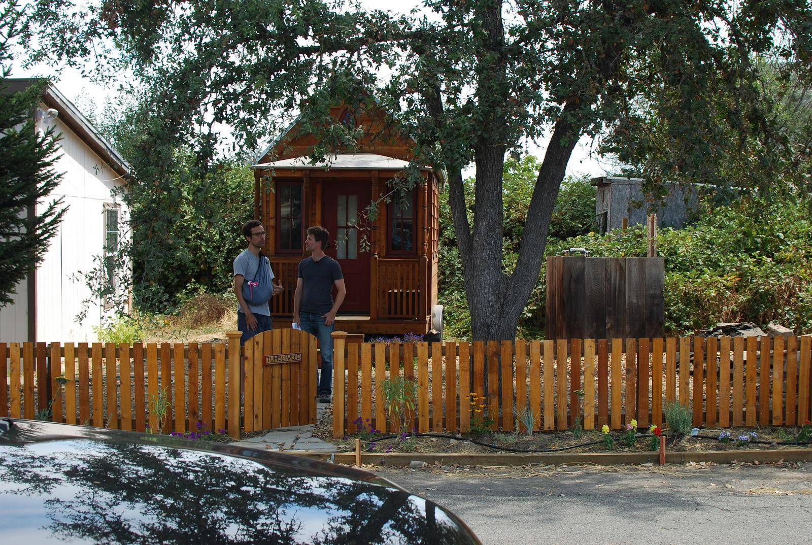 nicolás boullosa from *faircompanies (left) & jay shafer (right) from tumbleweed tiny house company
