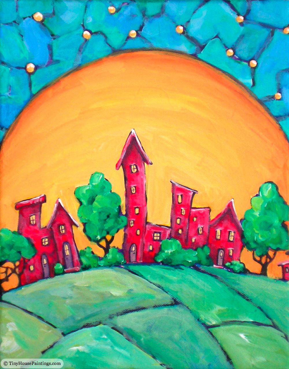 Main Street - Original Art Painting